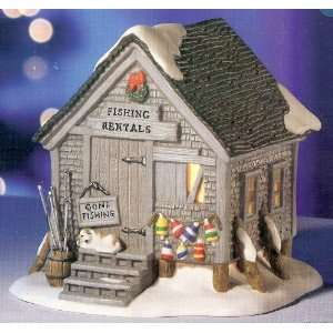 Christmas Village Collection ~ Fishing Rental ~ Electric