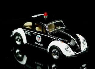 1967 Volkswagon VW Beetle   Bug POLICE Car Diecast 132 Scale