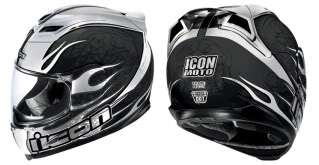 Icon airframe claymore MOTORCYCLE helmet black chrome large 0101 3903