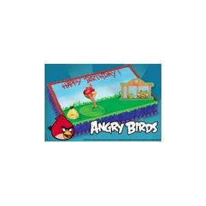 New Licensed 4 Pc Angry Birds Cake Topper Decoration Set: Toys & Games