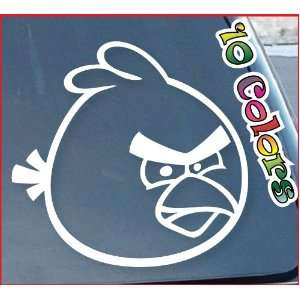 Angry Bird Window Decal Sticker 9 Wide (Color: White