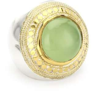 Anna Beck Designs Gili Green Chalcedony Cocktail Ring, Size 7