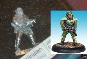 Urban War 13127 Viridian Special Forces Sergeant Male Officer 28mm