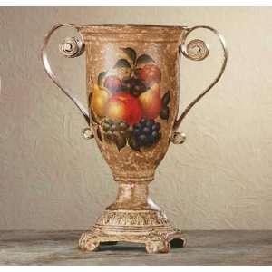 Porcelain Antique Finish Fruit Design Urn: Home & Kitchen