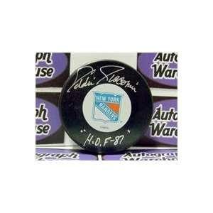 Eddie Giacomin autographed New York Rangers Hockey Puck