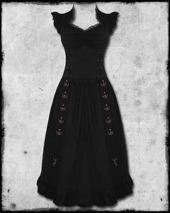 COPPER GOTH STEAMPUNK VTG VICTORIAN EMPORIUM CORSET PROM DRESS