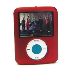 APPLE IPOD NANO 3G 3rd GENERATION 4GB 8GB RED Rubber Coating Hard