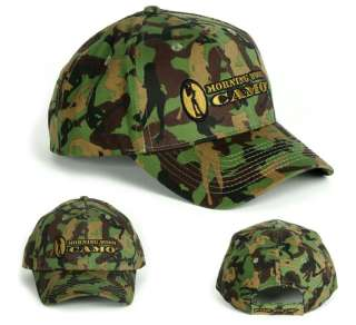 Green Morning Wood Camo logo ball cap army golf hat