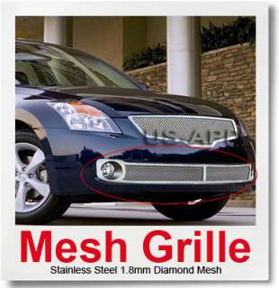 07 09 Nissan Altima Bumper Stainless Mesh Grille Insert