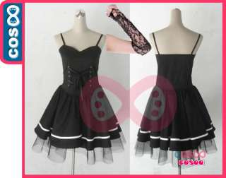 DEATH NOTE◆Misa Amane Black Dress◆Anime Cosplay Costume