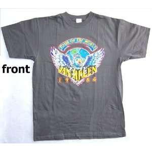 Van Halen Tour of the World Eagle grey t shirt   large