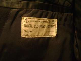 US World War II WWII Wool Pea coat Navy Uniform Jacket