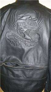 Harley Davidson Leather Jacket Tulsa Embossed Eagle Vented XL 97151