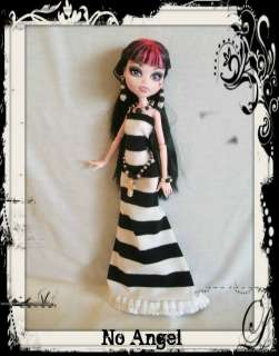 HANDMADE Goth Cross Clothes Dress + Jewelry 4 MONSTER HIGH DOLL Custom