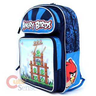 Angry Birds Large School Backpack Lunch Bag Set  Attack 3D Lenticular