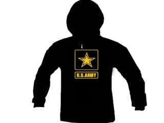 US Army Emblem Logo Military Hoodie Hooded Sweatshirt