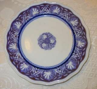 Antique Mid 19c Anthony Shaw FLOW BLUE Plate RARE