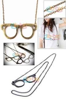 Simple Style Cute Antique Glasses Pendant Necklace