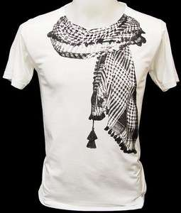 UK British Flag Union Jack Scarf Retro Punk T Shirt S