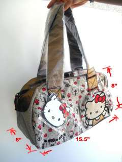 Loungefly Hello Kitty Apple Mushroom Canvas Tote Bag