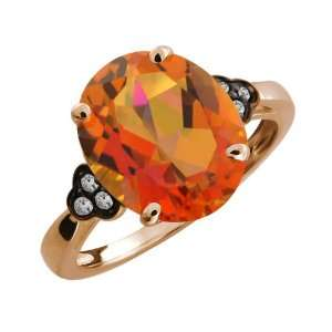4.22 Ct Oval Twilight Orange Mystic Quartz and Topaz Gold