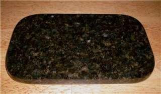 GRANITE CUTTING BOARD BLACK UBA TUBA 6 x 10 ROUNDED CORNERS