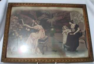 Pair Gorgeous Art Deco Gilt Framed Prints Burnhill Roe