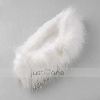 Fashion Women Lady Girls Faux Fox Fur Circle Collar Tube Scarf Wrap