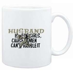 Mug White  Husband is for girls, cause men cant handle