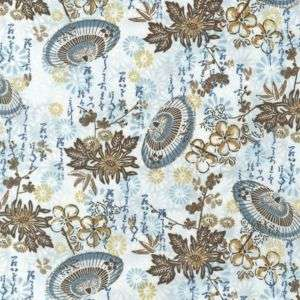 FABRIC FORMOSA Asian TEXT Japanese Chinese PARASOL Cherry Blossoms