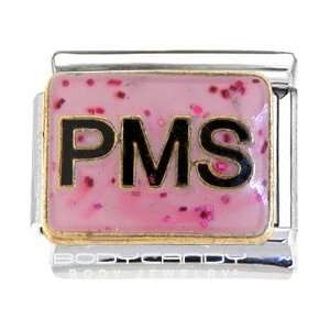 Pink Glitter Pms Itlaian Charm Jewelry