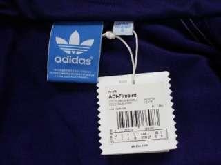 Adidas Mens Firebird Track Top Sports Jacket Purple / Blue BNWT