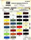 COUGAR PARKLANE PAINT CHIPS R M items in car colors store on