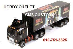 AUW 235 KISS GMC TRUCK/Trailer HO Slot Car New Release #3 IN STOCK NOW