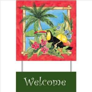 WeatherPrint 90500808 Mango Bay Welcome Sign   Beth