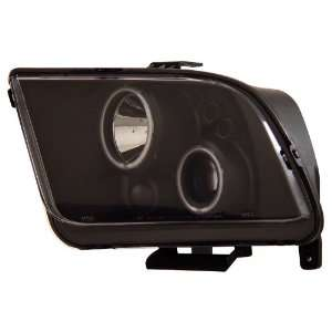 FORD MUSTANG 05 07 PROJECTOR HEADLIGHTS HALO BLACK CLEAR
