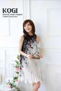 N74 Retro Floral Cocktail Ruffle Dress(US Sz 4/6/8/10)