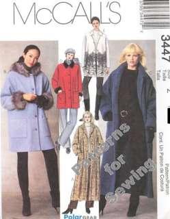 Pattern Sewing McCalls Woman Winter Coat Jacket 5 Styles Size 4 14 NEW