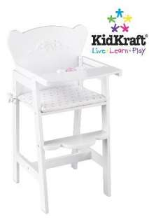 New KidKraft Kids Toy Baby Doll Wooden High Chair White