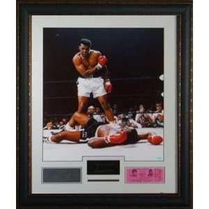 Muhammad Ali over Sonny Liston   Engraved Signature