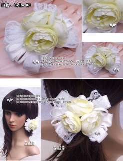 Bridal Wedding Fascinator Hair Flower Clip Barrette Ros