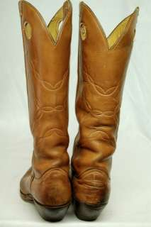 VINTAGE TONY LAMA LEATHER WESTERN BUCKAROO TALL COWBOY BOOTS MENS 9 D