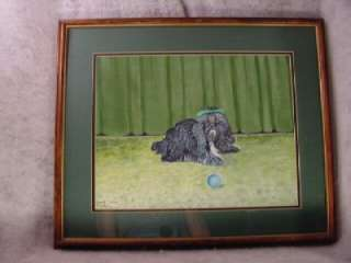 BEAUTIFUL ARTIST ORIGINAL SHIH TZU DOG OIL PAINTING