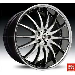 Lexani Lx14 20x10 Range Rover Wheels Rims Black Machine & Chrome