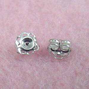 Jewelry Finding   14k White Gold 5mm Earring Backs Arts