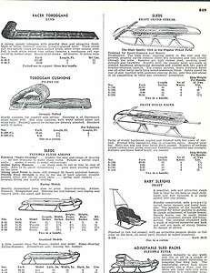 1951 ad Lund Toboggan Racer Flexible Flyer Airline Sleds Pratt Silver
