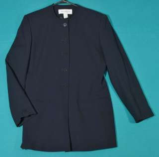 Jones New York Navy Blue Blazer Jacket Size 8 M 10