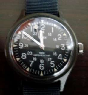 Vintage 80 Timex Camper Military Style Mechanical Watch  MaCGYVER