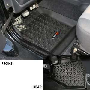 Jeep All Terrain Floor Liner Kit, Rugged Ridge, Black, Jeep Wrangler