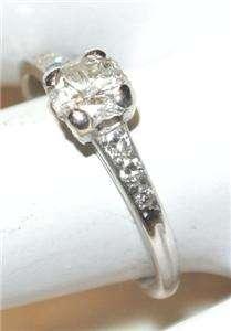 Antique TIFFANY & CO PLATINUM DIAMOND Solitaire RING .75ct WEDDING